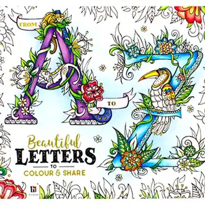 A-Z Beautiful Letter to Colour and Share
