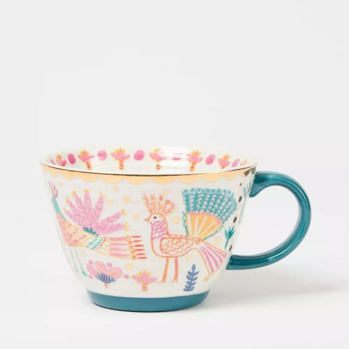 Lucy Tiffney Multicoloured Bird Print Mug - save £3