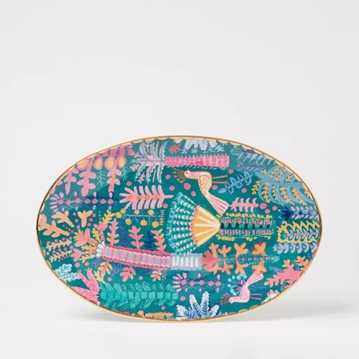 Lucy Tiffney Botanical Print Serving Plate - save £7.50