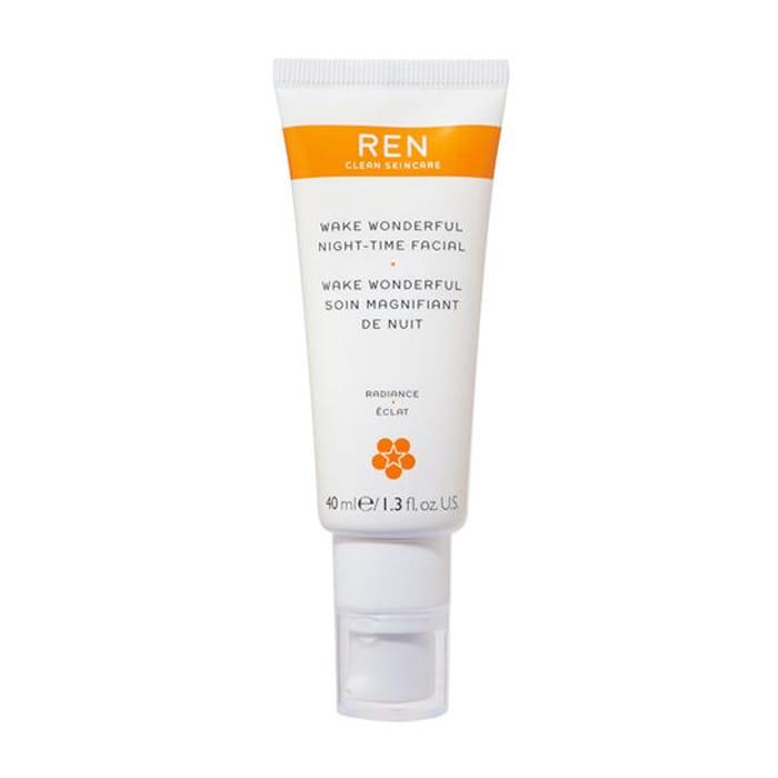 REN Clean Skincare Radiance Wake Wonderful Night-Time Facial