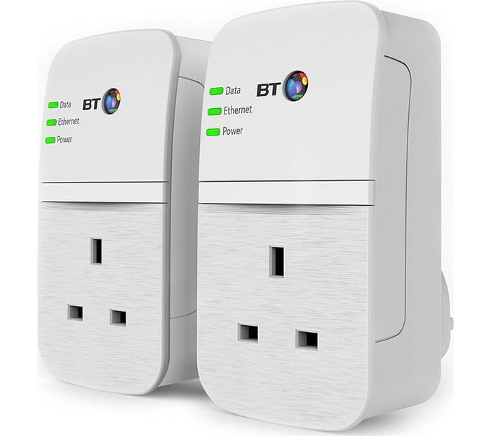 *SAVE £10* BT Broadband Extender Flex 600 Powerline Adapter Kit - Twin Pack