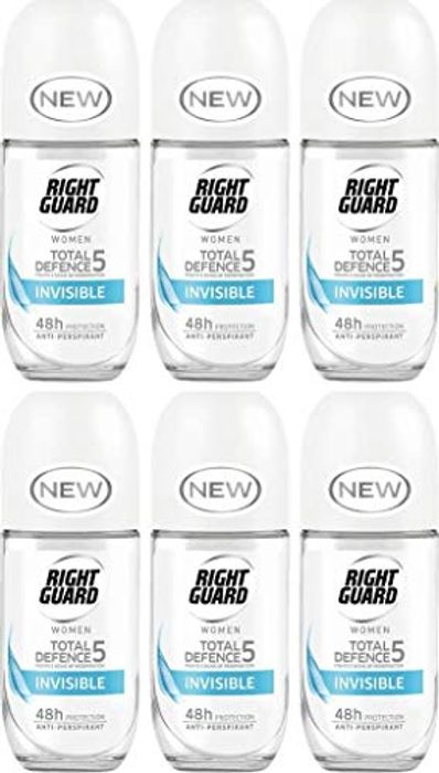Right Guard Women Total Defence 5 Pk6 HALF PRICE at Amazon