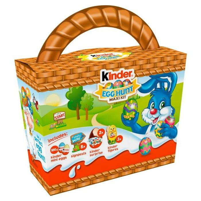 Kinder Egg Hunt Maxi Kit 50%off at Sainsbury's