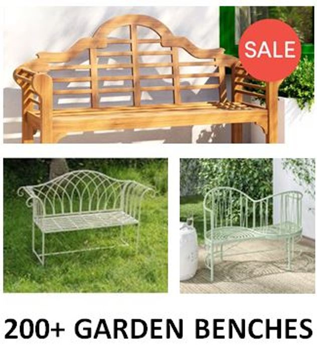 Special Offer - 200+ Garden Benches from £61.99 (Free Delivery)