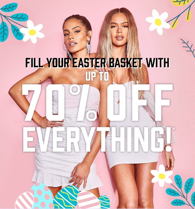 Boohoo up to 70% off EVERYTHING! Easter Sale