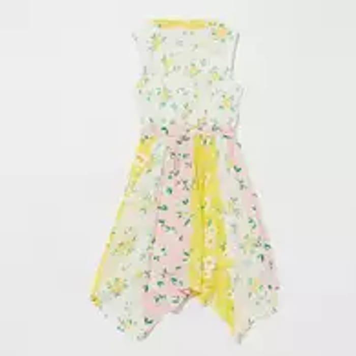 Mantaray - Girls' Multicoloured Floral Patchwork Cotton Dress