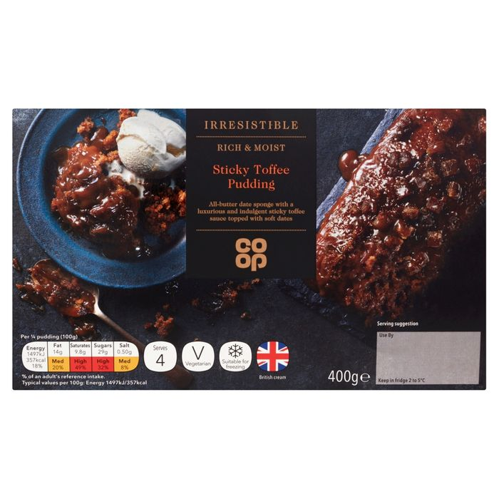 Co-Op Irresistible Sticky Toffee Sponge Pudding
