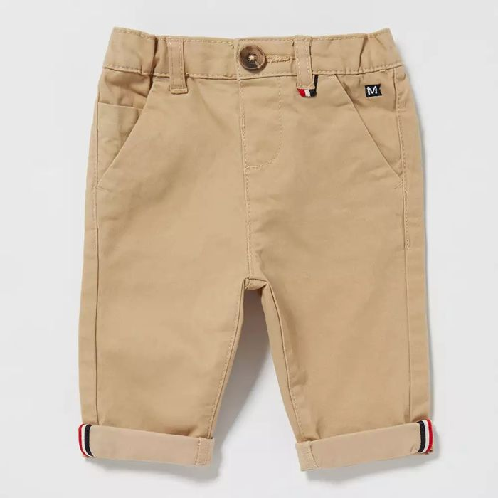 Maine New England-Baby Boys' Dark Tan Chino Trousers