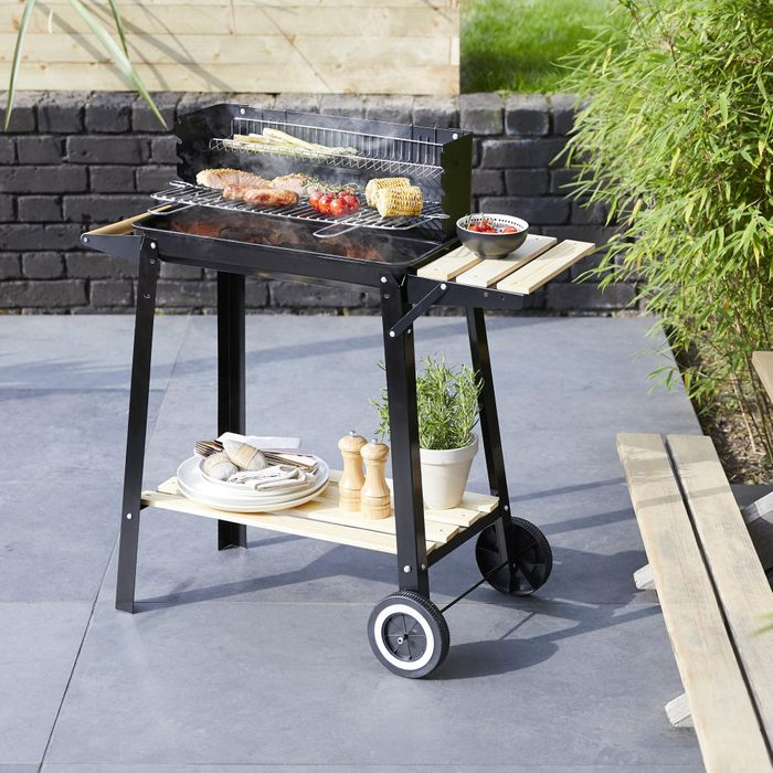 CHEAP! Black Trolley BBQ Grill - FREE DELIVERY