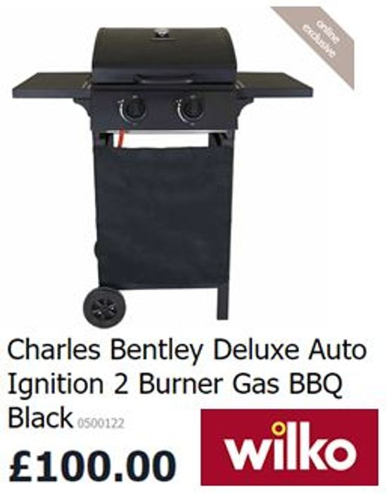 Deluxe Auto Ignition 2 Burner Gas BBQ