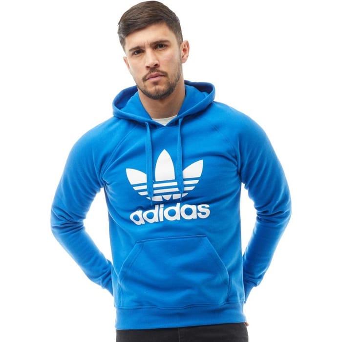 Adidas Originals Mens Trefoil Hoody Bluebird on Sale From £54.99 to £29.99