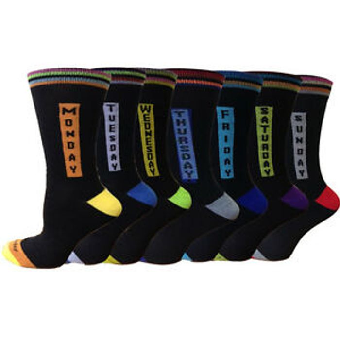 Best Offers! 7 Pairs Mens Everyday Socks High Quality