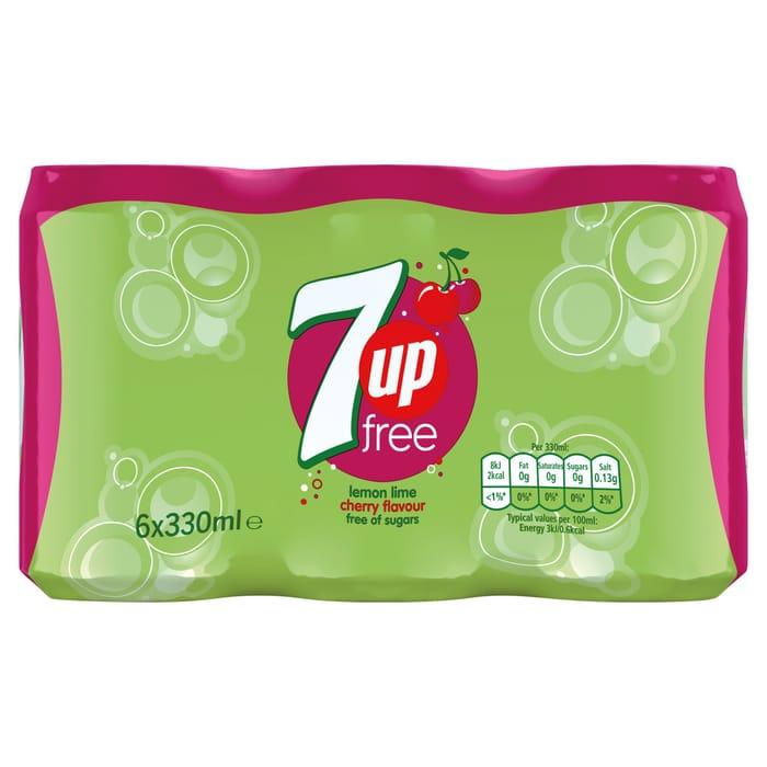7Up Free Cherry Flavoured Drink 6X330ml
