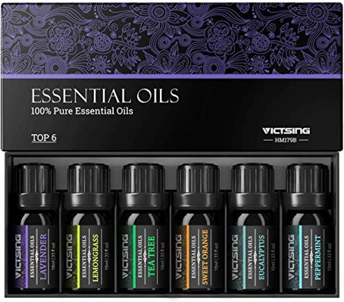 VicTsing Essential Oils Gift Set for Aromatherapy (10ml*Top 6)