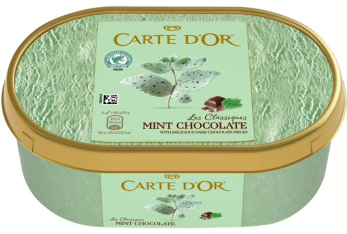 Carte D'Or Classic Mint Ice Cream 1L & Other Flavours