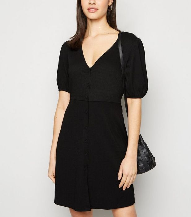 Save a Third on New Look Button through Mini Dress in Choice of Four Colours