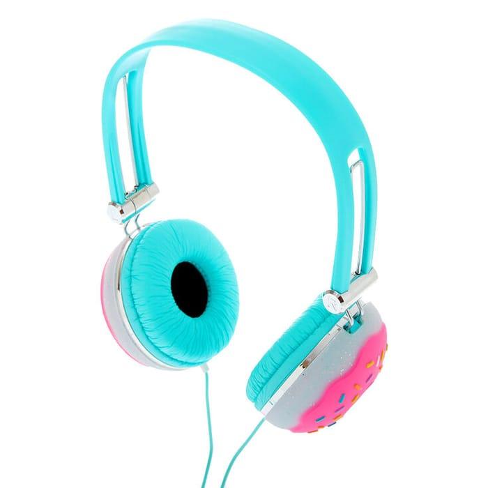 Glitter Donut Headphones - Turquoise