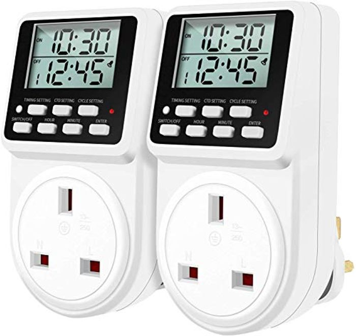 Digital Daily Programmable Timer Plug Socket with Countdown and Periodic