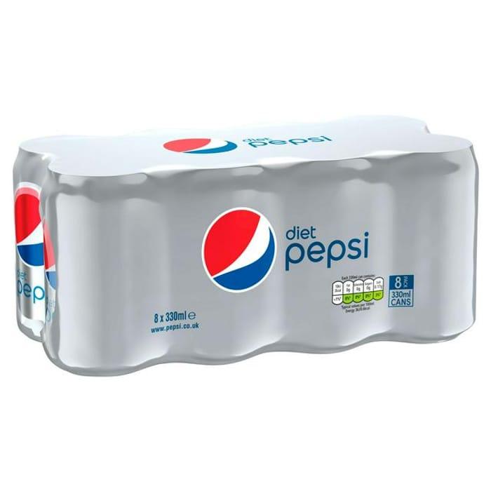 Diet Pepsi Cans 8x330ml