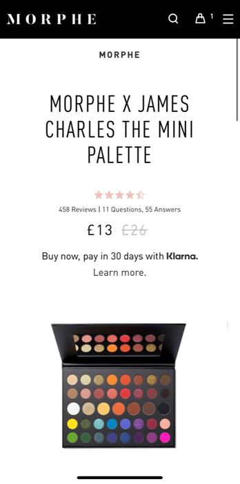 Morphe James Charles Mini Eyeshadow Palette