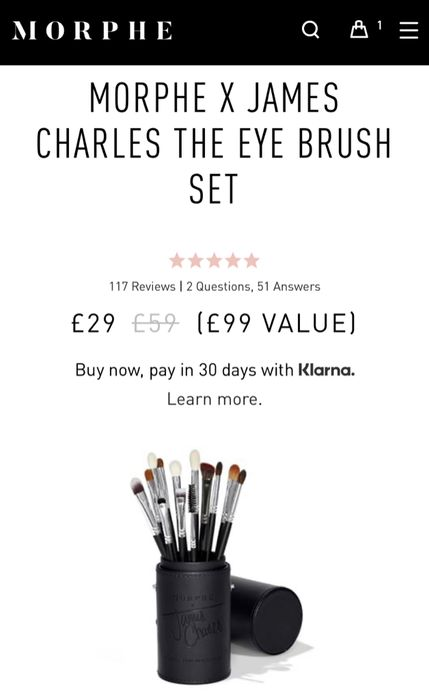 Morphe James Charles Eye Brush Set