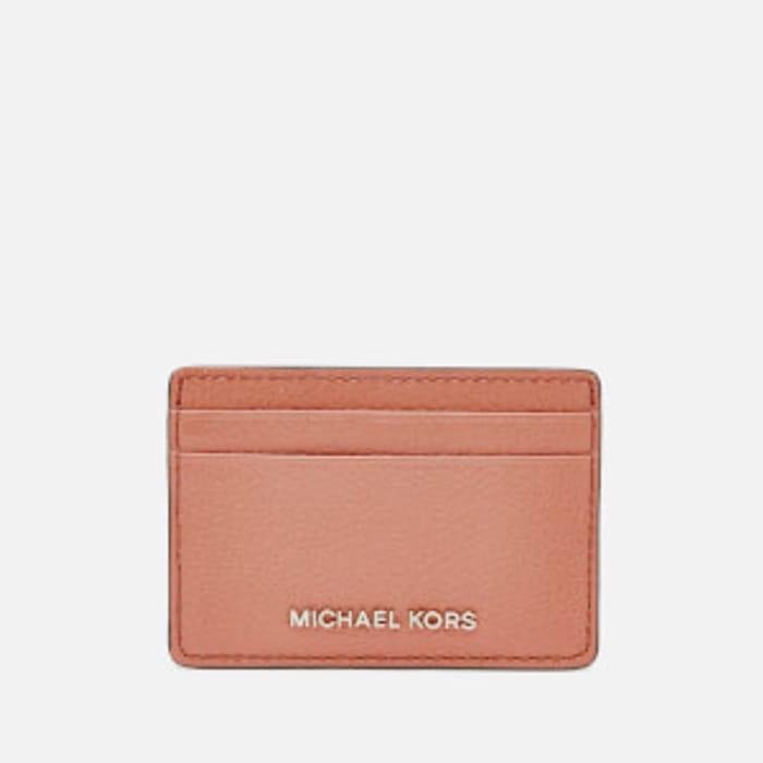 Best Price! MICHAEL KORS Women's Jet Set Card Holder - Sunset Peach