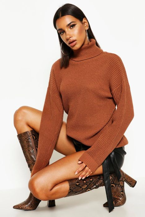 Fisherman Roll Neck Jumper, Only £7.00!