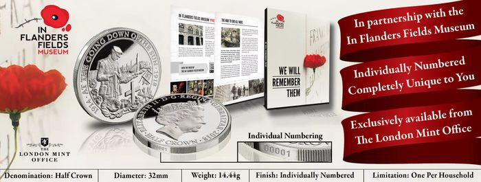 Free World War One Silver Coin (Limited Edition