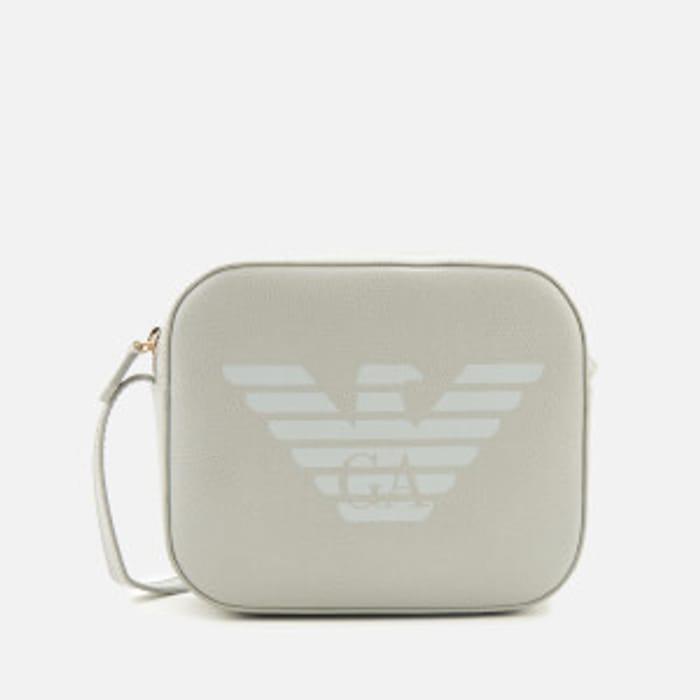 CHEAP! Emporio Armani Women's Eagle Shoulder Tote Bag - Powder