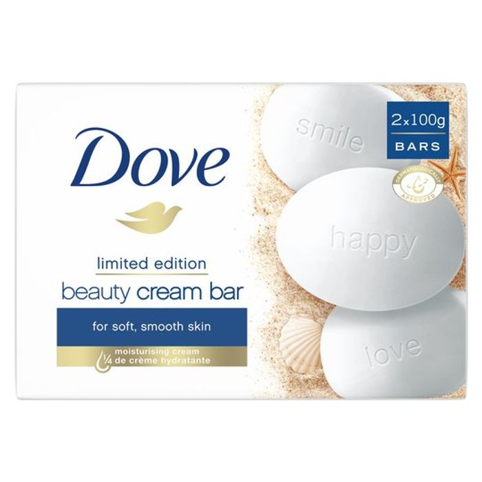 Dove Original Soap Bar (2X100g) £1 at Tesco (Min Basket £40 + up to £4 Delivery)