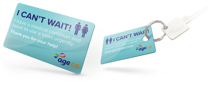Order Your Free Age Co Toilet Card Today *Just Pay For Delivery.