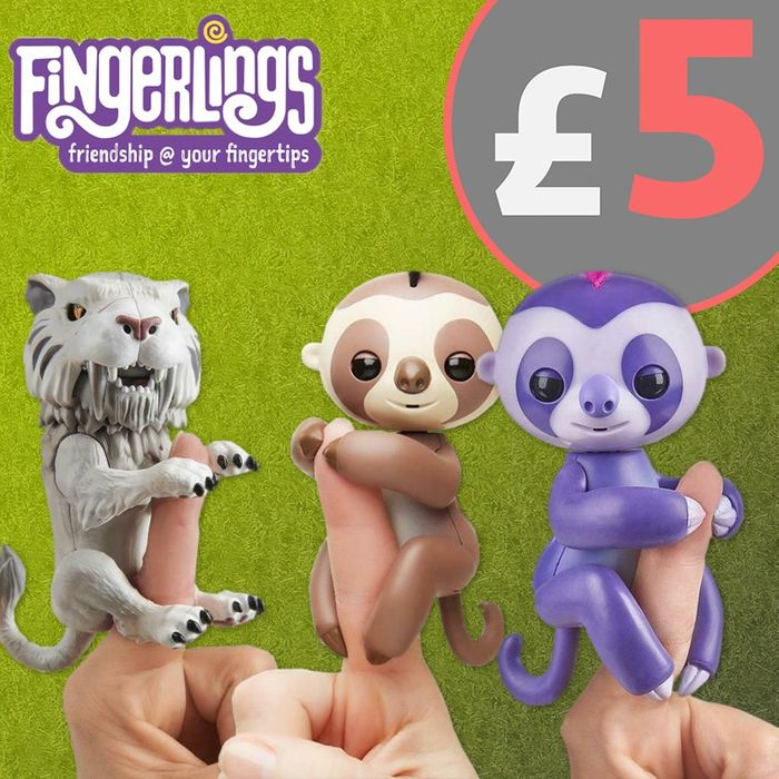 Fingerlings Baby Sloth Kingsley Wowwee Interactive Pet