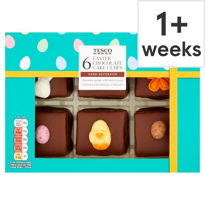 Tesco 6 Easter Cube Cakes