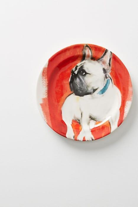 French Bulldog 'Dog-a-Day' Dessert Plate