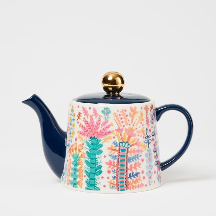 Lucy Tiffney Botanical Print Teapot - save £7.50