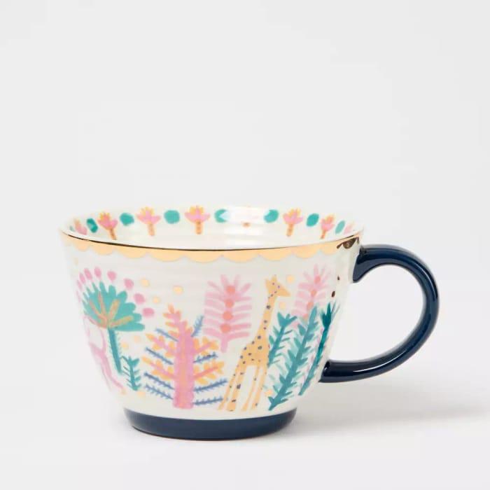 Lucy Tiffney Multicoloured Monkey Print Mug - save £3