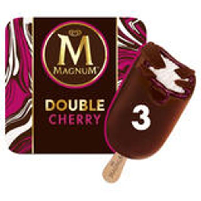 Magnum Double Cherry /Chocolate & Hazelnut Praline Ice Cream X 3