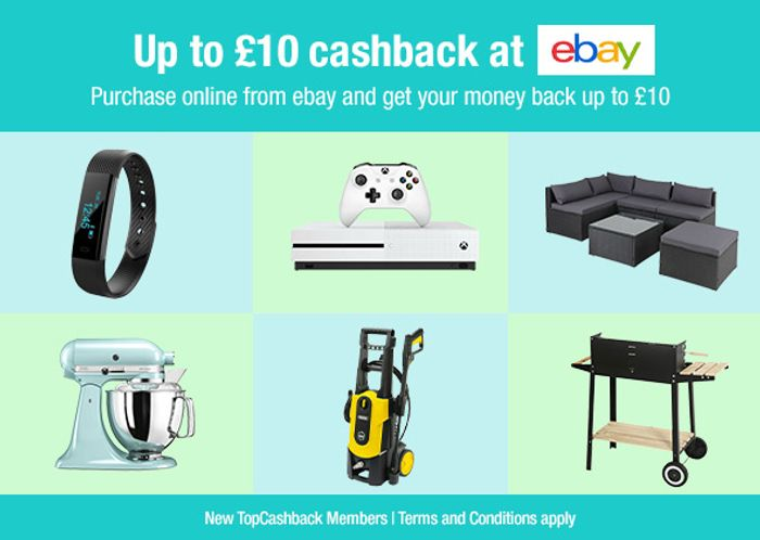 Up to £10 Cashback on Purchases at eBay