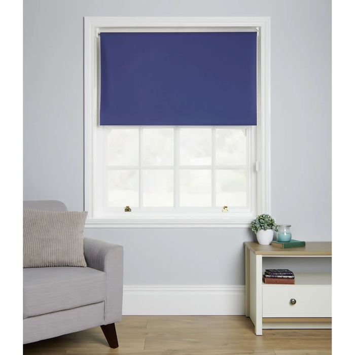 Wilko Blackout Blind Blue 60 X 160cm