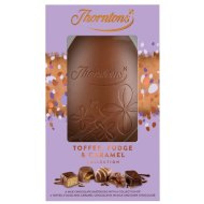 Thorntons Toffee, Fudge & Caramel Egg / Harry Hopalot Bunny Egg - HALF PRICE