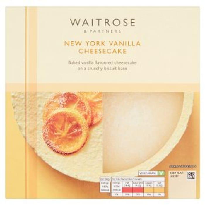 Waitrose New York Vanilla 540g/Salted Caramel Cheesecake 463g