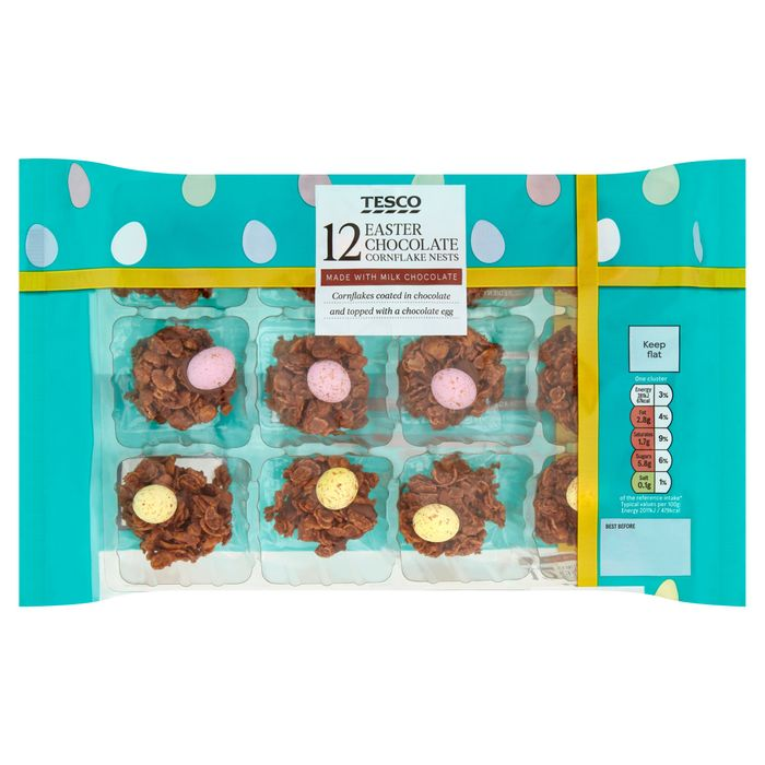 Tesco 12 Easter Chocolate Cornflakes Nests