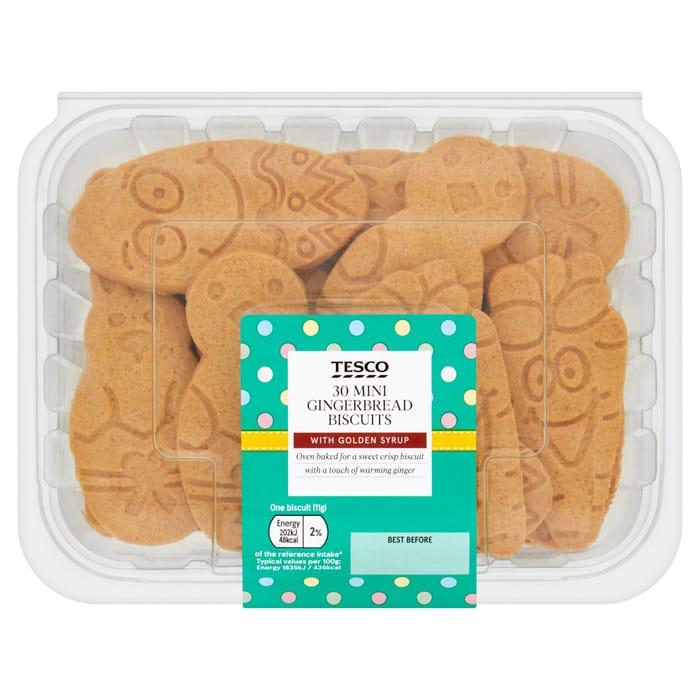 Tesco 30 Mini Gingerbread 330G