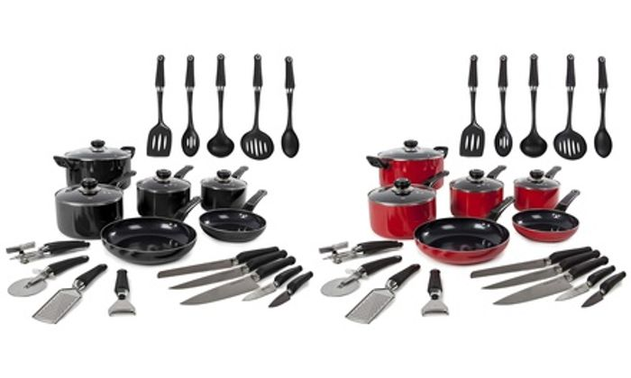 Morphy Richards Six-Piece Pan Set and 14-Piece Tool Set with Free Delivery