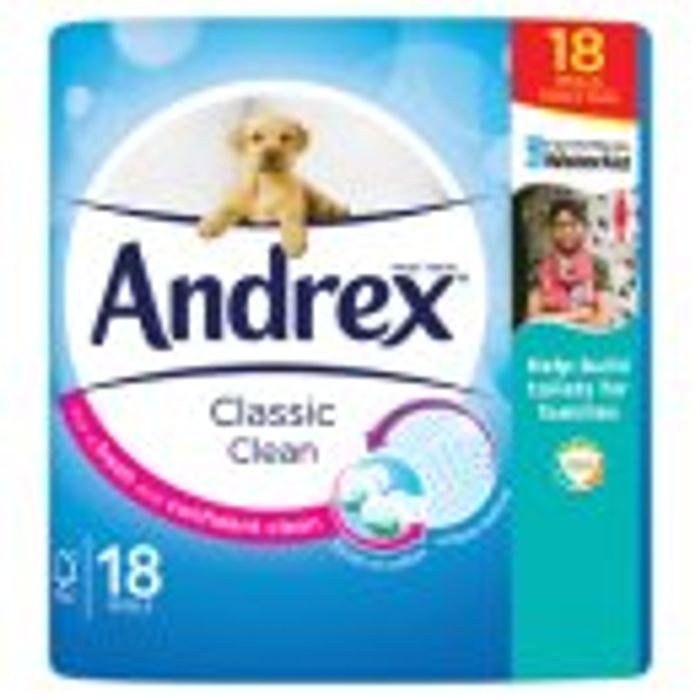 Andrex Classic Clean Toilet Roll 18 Rolls
