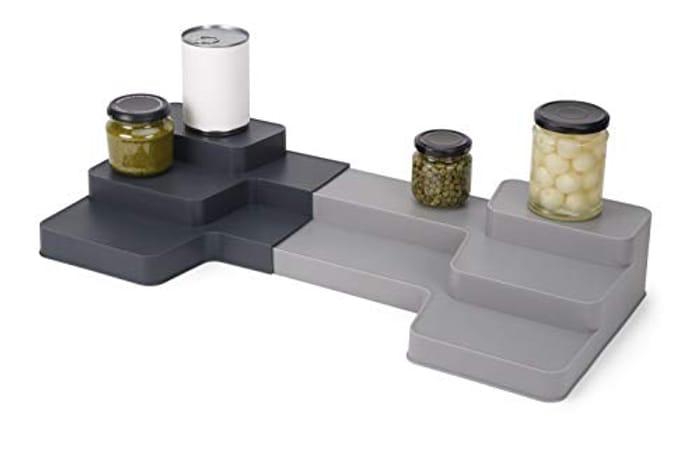 Joseph Joseph CupboardStore Expandable Tiered Organiser- Grey