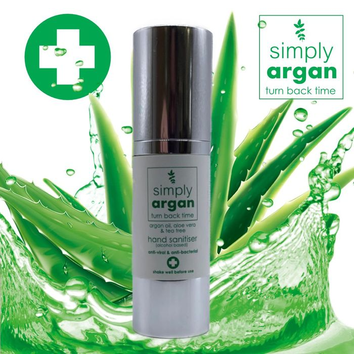 Argan, Aloe Vera & Tea Tree Hand Sanitiser (30ml)
