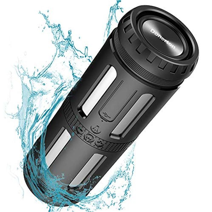 Bluetooth Speaker, Rich Bass Portable Speaker with Flashlight & Camping Light
