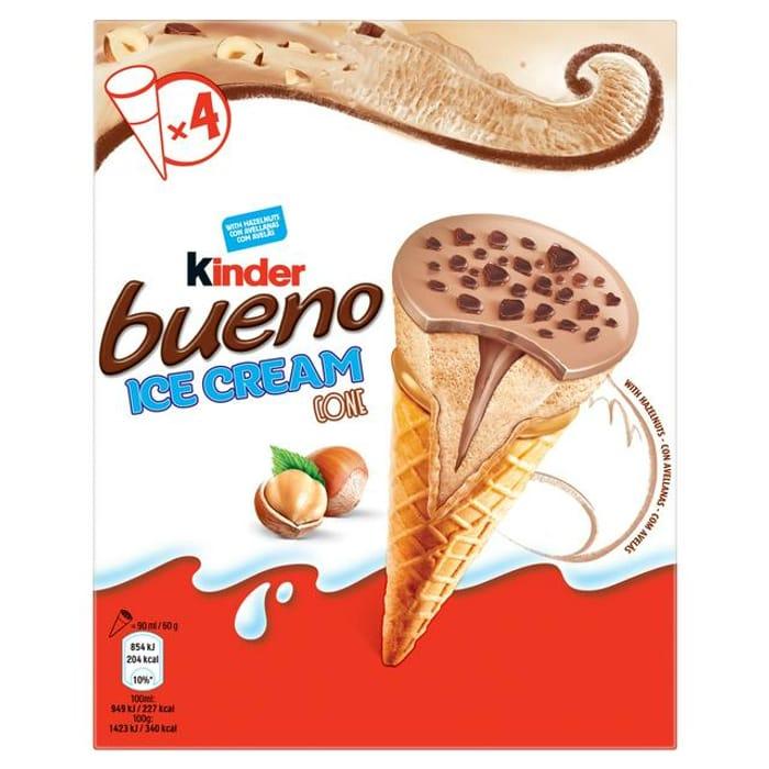Kinder Bueno Ice Cream Cones at Sainsbury's 50%off