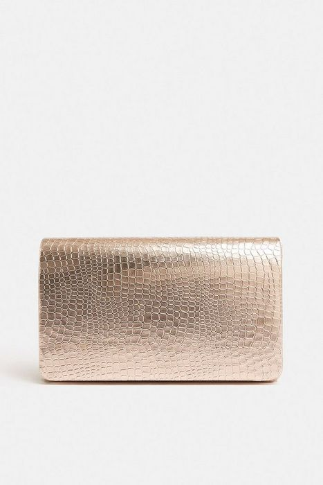 Metallic Embossed Clutch Bag